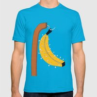 pin banana Mens Fitted Tee Teal SMALL