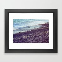 sea coast Framed Art Print