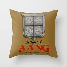 The legend of Aang Throw Pillow