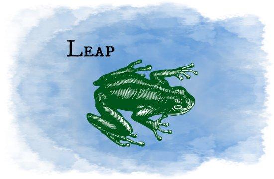 WordPlay : Leap frog Art Print