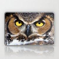 Great Horned Owl Face Laptop & iPad Skin