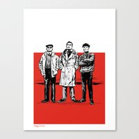 Three Dudes Canvas Print