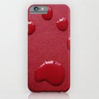 Water Paw-Print iPhone 6 Slim Case