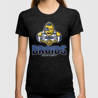 Desert County Droids - N… Womens Fitted Tee Tri-Black SMALL