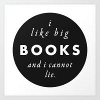 Big Books Love Art Print