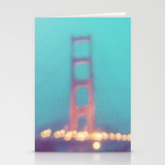 la nuit. San Francisco Golden Gate Bridge photograph Stationery Card