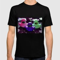 Squeaky duck Mens Fitted Tee Black SMALL