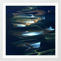 Water / H2O #62 (Water Abstract) Art Print