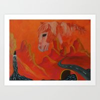 Horse Without a Name Art Print