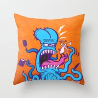Extreme Cooking Throw Pillow