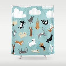 Raining Cats & Dogs Shower Curtain