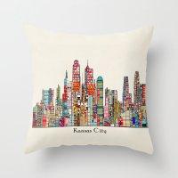 kansas city Missouri skyline Throw Pillow