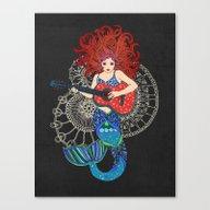 Canvas Print featuring Musical Mermaid by Micklyn