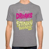 Stinky Business Mens Fitted Tee Tri-Grey SMALL