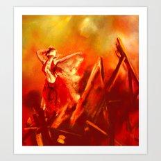 Ateş rengi Art Print