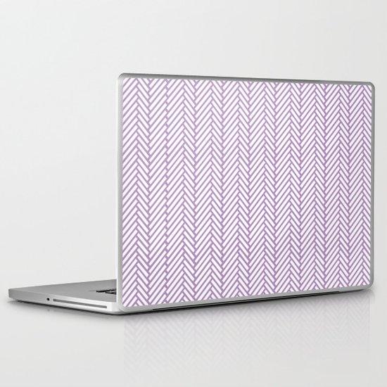Herringbone Orchid Laptop & iPad Skin