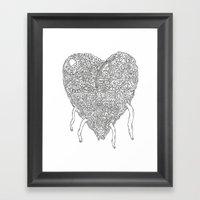 Doodle Heart Framed Art Print