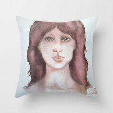 Watercolor smile Throw Pillow
