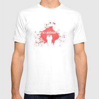 Be A Gentleman Mens Fitted Tee White SMALL