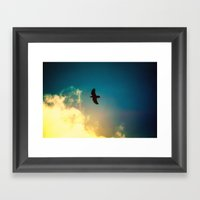 Raven Flight Framed Art Print
