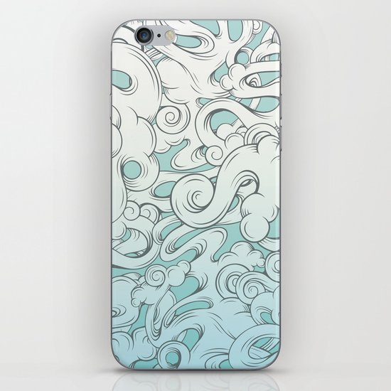 Entangled Clouds iPhone & iPod Skin
