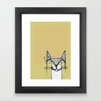 Cubist Cat Study #6 By F… Framed Art Print