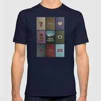 Twin Peaks colors Mens Fitted Tee Navy SMALL