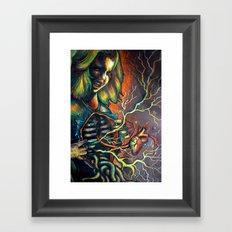 Inner and outer portrait Framed Art Print