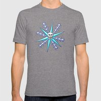 Skullflake Mens Fitted Tee Tri-Grey SMALL