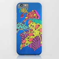 Pizza Eating Pizza - Blue Edition iPhone 6 Slim Case