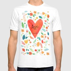 Love never fails Mens Fitted Tee White SMALL