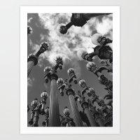 Lamp Posts Art Print