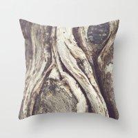 Tree Swirls Throw Pillow