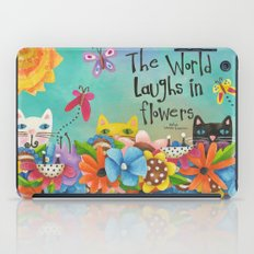 The World Laughs In Flowers iPad Case