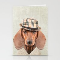 The stylish Mr Dachshund Stationery Cards