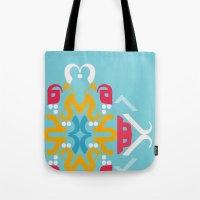 Blue Arabic Tote Bag