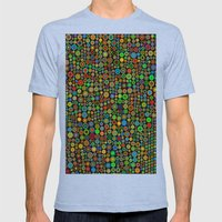 Colorful dots Mens Fitted Tee Athletic Blue SMALL