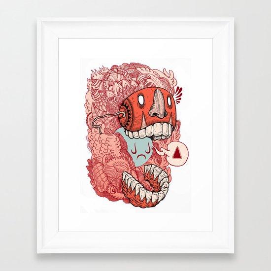 crazy mask Framed Art Print
