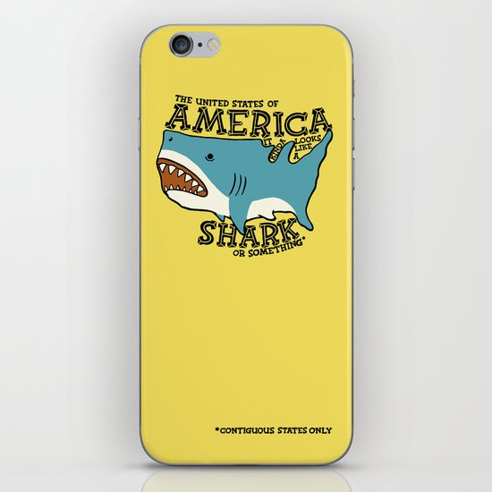 America…   it kinda looks like a shark or something iPhone & iPod Skin