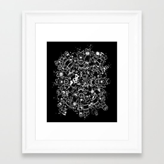 For Good For Evil - ver2 BLACK Framed Art Print