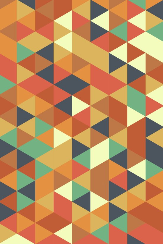 Triangle Pattern II Art Print
