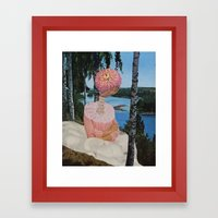 lake sludge Framed Art Print