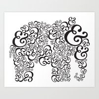 Ampersand Elephant Art Print