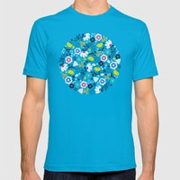 Fresh Flora Mens Fitted Tee Teal SMALL