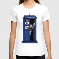 Dr. Dalek Womens Fitted Tee White SMALL
