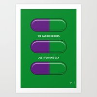My SUPERHERO PILLS - The… Art Print
