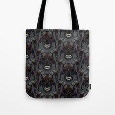 demon skull charcoal Tote Bag