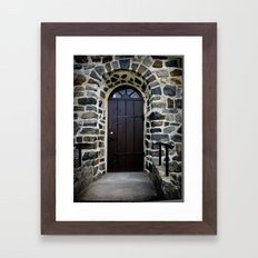 Church Door - Raelingen, Norway Framed Art Print