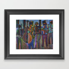 Gods Of Jazz Come To New York City Framed Art Print
