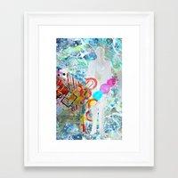 Calling Cards Framed Art Print